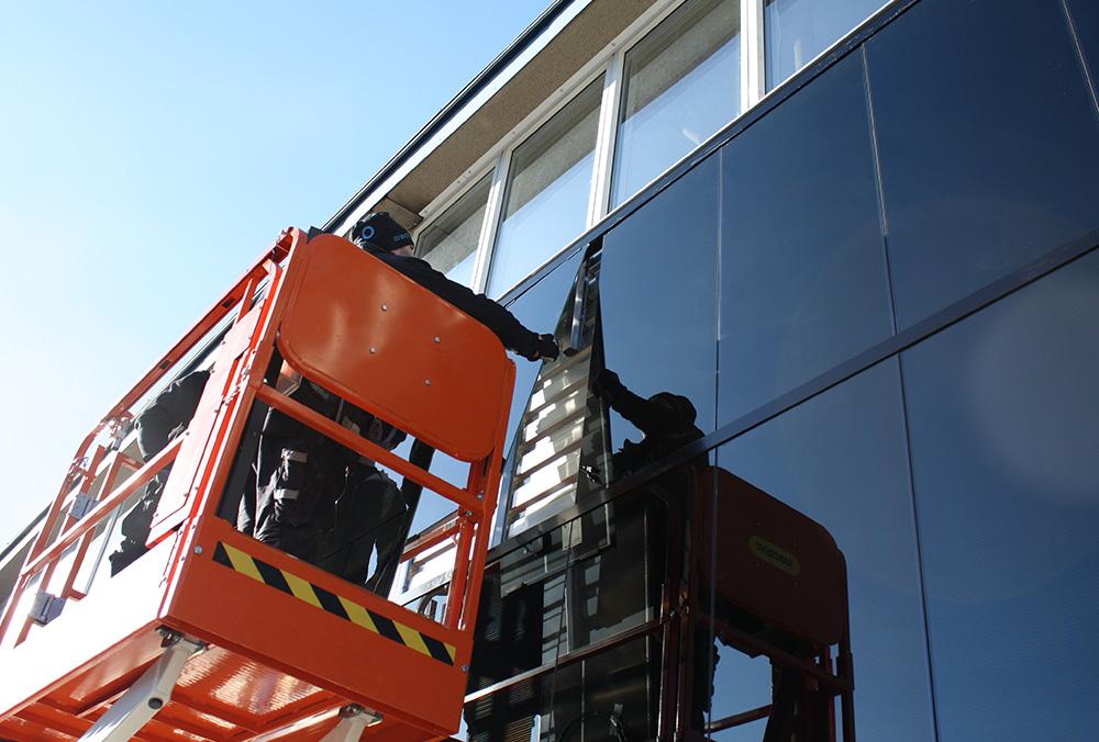 solceller på fasad